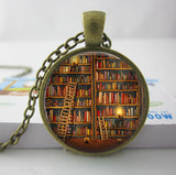 2017 Collares Collier Library Book Case Necklacevintage Style Gift For Students Teachers And Librarians Necklace ,old Books-Devices Depot-1-KoolWish.com