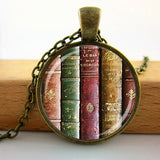 2017 Collares Collier Library Book Case Necklacevintage Style Gift For Students Teachers And Librarians Necklace ,old Books-Devices Depot-9-KoolWish.com