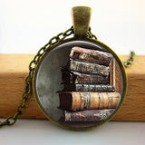 2017 Collares Collier Library Book Case Necklacevintage Style Gift For Students Teachers And Librarians Necklace ,old Books-Devices Depot-8-KoolWish.com