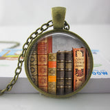 2017 Collares Collier Library Book Case Necklacevintage Style Gift For Students Teachers And Librarians Necklace ,old Books-Devices Depot-4-KoolWish.com