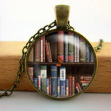 2017 Collares Collier Library Book Case Necklacevintage Style Gift For Students Teachers And Librarians Necklace ,old Books-Devices Depot-17-KoolWish.com