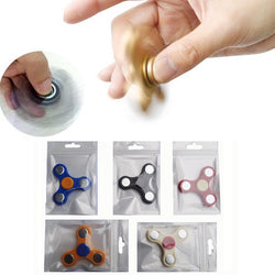 2017 Fidget Spinner Toy 6cm Plastic EDC Squeeze Fun For Autism ADHD Rotation Time Long Anti Stress Fidget hand spinner Toys-Devices Depot-KoolWish.com