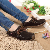 2017 New Fashion Woman Casual Shoes Wild Lace-up Women Flats Warm Comfortable Concise Woman Shoes Breathable Female Shoes aDT90-Devices Depot-Brown-4.5-KoolWish.com