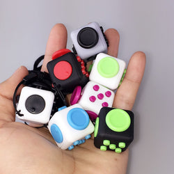2017 New Style Squeeze Fun Stress Reliever Fidget Cube Relieves Anxiety and Stress Toys Fidget Cube 11 Style X6-Devices Depot-KoolWish.com