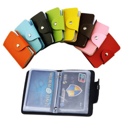 24Bit 2sided Credit Card Holder waterproof plastic card sets Multicolor Business card pack Bus Card bag women purse men wallet-Devices Depot-KoolWish.com