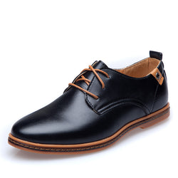 Big Size EU 2017 Men Casual Leather Shoes Hot Sale Spring Autumn Men Fashion Lace-Up Dress Shoes Man Low Top Light Flats Sapatos-Devices Depot-Black-11-China-KoolWish.com