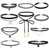Black Velvet Choker Necklace Tattoo Lace Collar Necklace for Women Jewelry-Necklaces-Devices Depot-10pcs-KoolWish.com