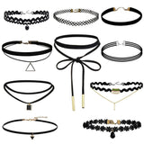Black Velvet Choker Necklace Tattoo Lace Collar Necklace for Women Jewelry-Necklaces-Devices Depot-KoolWish.com
