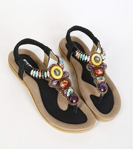 Bohemian Beach Summer Sandals for Women-Shoes-Devices Depot-Black-6-KoolWish.com