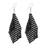 CACANA Long Earrings Dangle Earrings For Women Tassel Bohemia Style Fashion Bijouterie Hot Sale No.A501-Earrings-Devices Depot-black-KoolWish.com