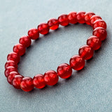 CHICVIE Tiger Eye Love Buddha Bracelets & Bangles Trendy Natural Stone Bracelet For Women Famous Brand Men Jewelry SBR140389-Devices Depot-dark red-KoolWish.com