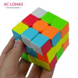 Colorful 3x3x3 Three Layers Magic Cube Profissional Competition Speed Cubo Non Stickers Puzzle Magic Cube Cool Toy Boy-Devices Depot-KoolWish.com