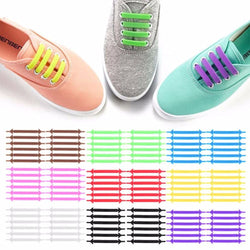 Creative Design Unisex Women Men Athletic Running No Tie Shoelaces Elastic Silicone Shoe Lace All Sneakers 9 Colors Optional-Shoes-Devices Depot-KoolWish.com