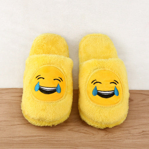 Cute Unisex Winter Man's Plush Slippers Indoor Shoes House Funny Women Slippers Emoji Shoes Warm House Slipper Hot Sale 2016-Devices Depot-A-5.5-KoolWish.com