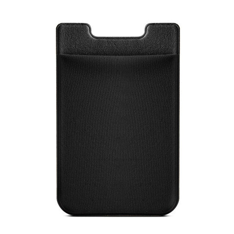 Elastic Lycra Cell Phone Wallet Case Credit ID Card Holder Pocket Stick On 3M Adhesive Black/Gray/Pink/Golden/RoseGold AC419-423-Cases-Devices Depot-Black-KoolWish.com