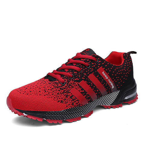 Eur size 35-46 High Quality 2017 Men Casual Shoes Spring Summer mesh lovers unisex Fly Weave Light Breathable Fashion Shoes-Shoes-Devices Depot-Red Men Women A-4.5-KoolWish.com