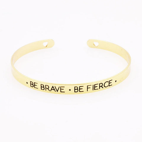 Fashion accessories jewelry brave letter wish design cuff bangle lovers' gift B3401-Devices Depot-1-KoolWish.com
