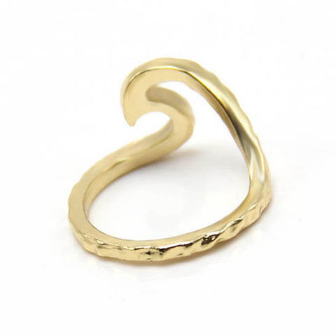 Hammered rings Single metal trendy Wave Ring phalanges rings SPL for Derek-Jewelries-Devices Depot-7-gold plated-KoolWish.com