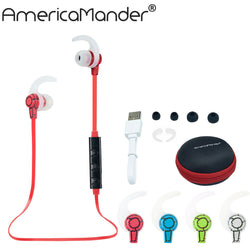 Hot 4.1 Wireless Bluetooth Earphone Bluetooth Headset Headphone Microphone Sport Earphone Headphones for iPhone Android Phone-Earphones-KoolWish.com-Blue-China-KoolWish.com