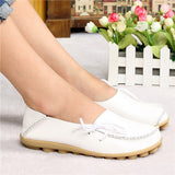 Hot Sale Woman Flat Shoes Breathable Soft Bottom Wild women flats Spring And Autumn female Loafers Chaussure Mujer GT179-Devices Depot-Beige-4.5-KoolWish.com