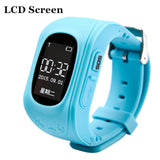 HOT Smart watch Children Kid Wristwatch Q50 GSM GPRS GPS Locator Tracker Anti-Lost Smartwatch Child Guard for iOS Android-Devices Depot-Blue LCD-China-KoolWish.com