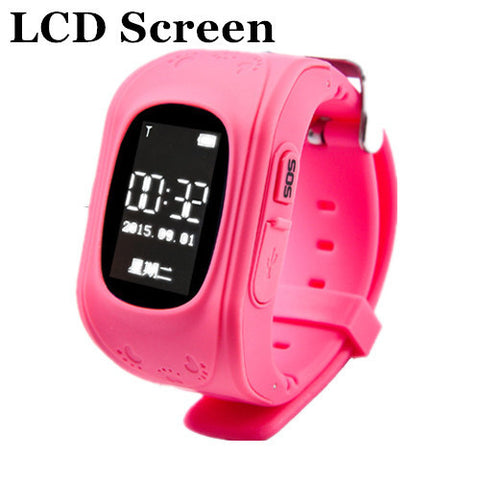 HOT Smart watch Children Kid Wristwatch Q50 GSM GPRS GPS Locator Tracker Anti-Lost Smartwatch Child Guard for iOS Android-Devices Depot-Red LCD-China-KoolWish.com