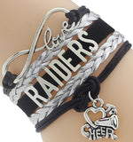 Infinity Love Raiders Football Team Bracelet NFL Customize Oakland Sport wristband friendship Bracelets-Devices Depot-6-KoolWish.com