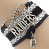 Infinity Love Raiders Football Team Bracelet NFL Customize Oakland Sport wristband friendship Bracelets-Devices Depot-2-KoolWish.com