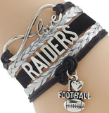 Infinity Love Raiders Football Team Bracelet NFL Customize Oakland Sport wristband friendship Bracelets-Devices Depot-3-KoolWish.com