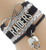 Infinity Love Raiders Football Team Bracelet NFL Customize Oakland Sport wristband friendship Bracelets-Devices Depot-5-KoolWish.com