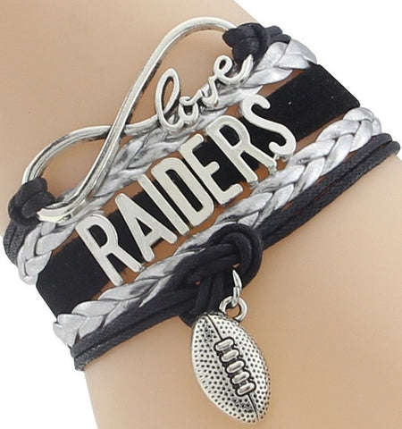 Infinity Love Raiders Football Team Bracelet NFL Customize Oakland Sport wristband friendship Bracelets-Devices Depot-1-KoolWish.com