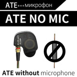 KZ ATES ATE ATR HD9 Copper Driver HiFi Sport Headphones In Ear Earphone For Running With Microphone-Headphones-Devices Depot-ATE NO mic-China-KoolWish.com