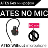 KZ ATES ATE ATR HD9 Copper Driver HiFi Sport Headphones In Ear Earphone For Running With Microphone-Headphones-Devices Depot-ATES NO mic-China-KoolWish.com