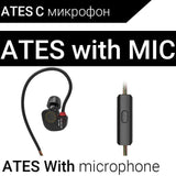 KZ ATES ATE ATR HD9 Copper Driver HiFi Sport Headphones In Ear Earphone For Running With Microphone-Headphones-Devices Depot-ATES with mic-China-KoolWish.com