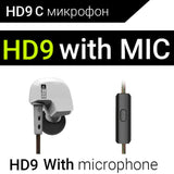KZ ATES ATE ATR HD9 Copper Driver HiFi Sport Headphones In Ear Earphone For Running With Microphone-Headphones-Devices Depot-HD9 White with mic-China-KoolWish.com