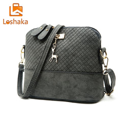 Loshaka Women Messenger Bags Fashion Mini Bag With Deer Appliques Shell Shape Bag PU Leather Female Shoulder Bags Casual Handbag-Bags-Devices Depot-KoolWish.com