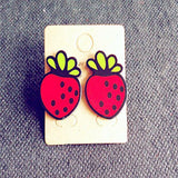 Many New Designs Animal Rabbit Monkey Fruit Month Small Acrylic Stud Earrings For Women Night Club Punk Jewelry Accessories-Earrings-Devices Depot-3-KoolWish.com