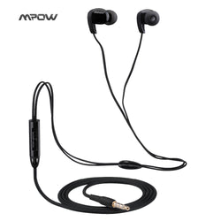 Mpow Stereo sport headphone headset 3.5mm Wired Earphone with Microphone and 3 Pair Earbuds sports runing headphone earphone-Earphones-KoolWish.com-Black-China-KoolWish.com