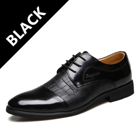 MRCCS Crocodile Pattern Leather Men'Dress Shoes,For Business Wedding Formal Flats,Luxury Style Men Shoes Spring/Winter Brand-Shoes-Devices Depot-Black-6.5-KoolWish.com