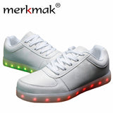 New 7 Colors Luminous Led Light Shoes Men Fashion USB Rechargeable Light Led Shoes For Adults Casual Shoes Big Size 35-46-Devices Depot-black-4-KoolWish.com