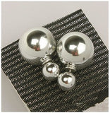 new fashion Cheap Price Fashion Double Sides Matt Candy Color Round Ball Stud Earrings For Lady free shipping crystal jewelry-Earrings-Devices Depot-Silver 10-KoolWish.com