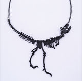 New fashion Jewelry Gothic Tyrannosaurus Rex Skeleton Dinosaur Pendant Necklace Gold Silver Chain Choker Necklace For Women-Necklaces-Devices Depot-Black-KoolWish.com
