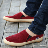 New men casual shoes man spring autumn Loafers England Fashion Zapato Breathable Slip on flats-Devices Depot-Red-7-KoolWish.com