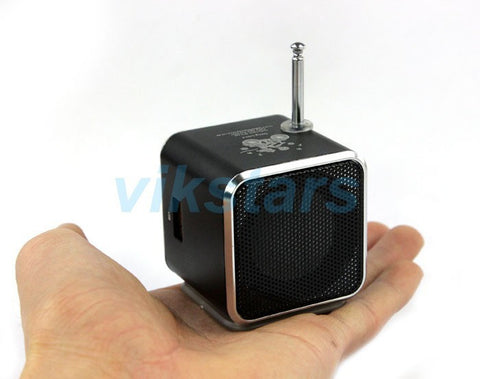 new portable speaker TF USB internet radio,mobile phone vibration computer music player speaker, multifunction FM radio V26-Devices Depot-blue-KoolWish.com