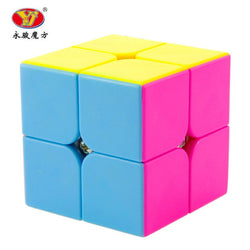 Newest Yongjun YJ Yupo 2x2x2 Profissional Magic Cube Competition Speed Puzzle Cubes Toys For Children Kids cubo magico-Devices Depot-Black-KoolWish.com