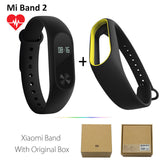 Original Xiaomi Mi Band 2 1S 1 Smart Wristband Bracelet xiomi miband2 Heart Rate Fitness Tracker miband band2 For IOS Android-Devices Depot-2 Add BlackY Strap-United States-KoolWish.com