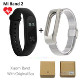 Original Xiaomi Mi Band 2 1S 1 Smart Wristband Bracelet xiomi miband2 Heart Rate Fitness Tracker miband band2 For IOS Android-Devices Depot-2 Add Silver Metal-United States-KoolWish.com