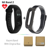 Original Xiaomi Mi Band 2 1S 1 Smart Wristband Bracelet xiomi miband2 Heart Rate Fitness Tracker miband band2 For IOS Android-Devices Depot-2 Add Black Metal-United States-KoolWish.com