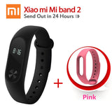 Original Xiaomi Mi Band 2 1S 1 Smart Wristband Bracelet xiomi miband2 Heart Rate Fitness Tracker miband band2 For IOS Android-Devices Depot-2 Add Pink Strap-United States-KoolWish.com