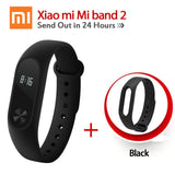 Original Xiaomi Mi Band 2 1S 1 Smart Wristband Bracelet xiomi miband2 Heart Rate Fitness Tracker miband band2 For IOS Android-Devices Depot-2 Add Black Strap-United States-KoolWish.com